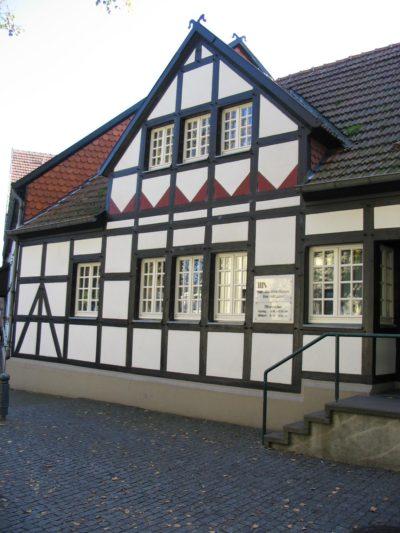 Ansicht der Bücherei in Ascheberg von außen