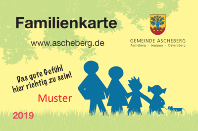 Ansicht der Familienkarte der Gemeinde Ascheberg