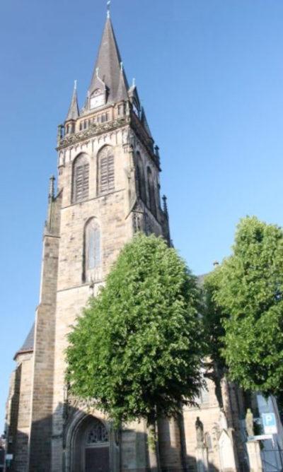 Ansicht des Kirchturms der Lambertus-Kirche in Ascheberg