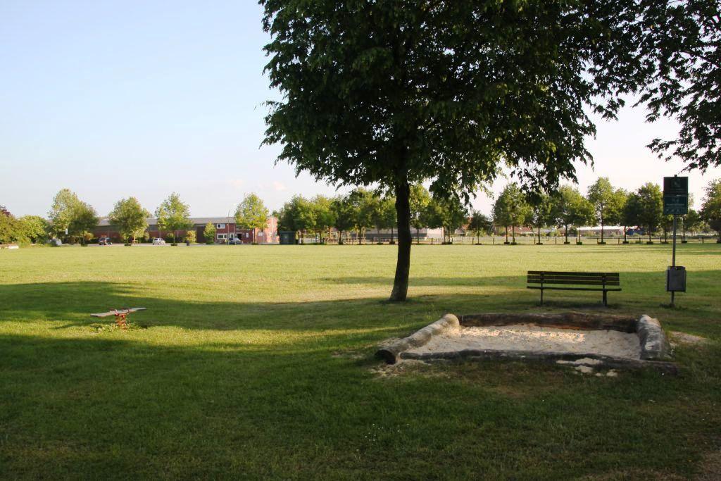 Ansicht Sandkasten Spielplatz Schlingermanns Hof