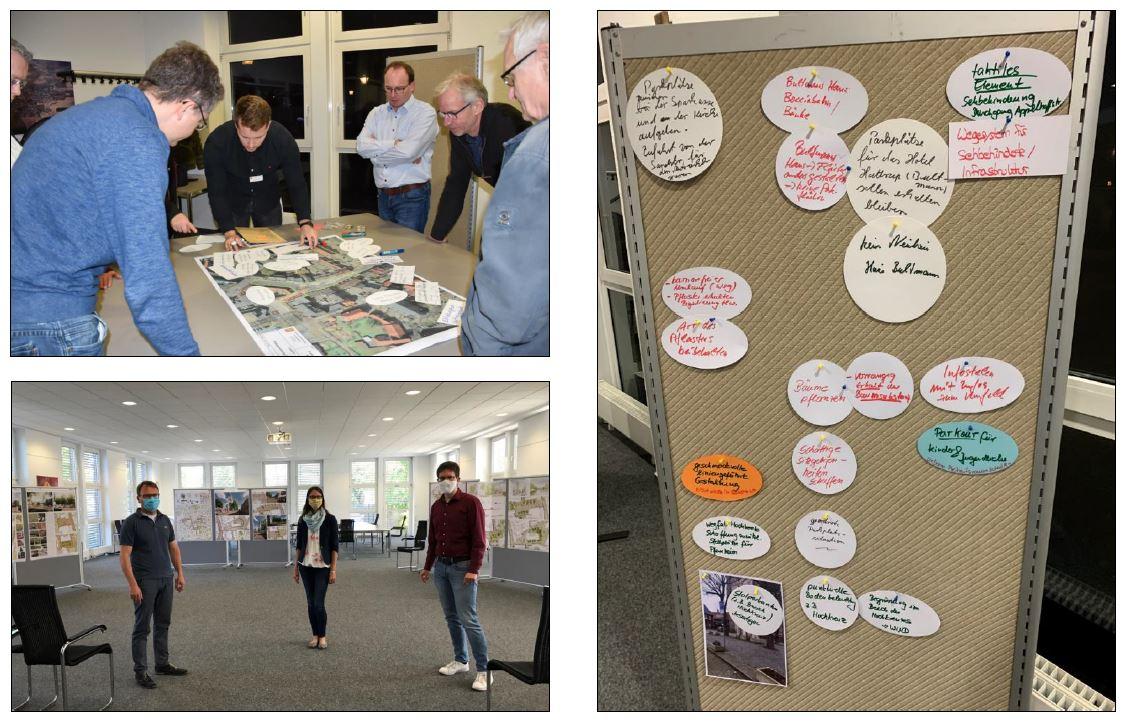 Photomontage von der Präsentation der Workshopergebnisse