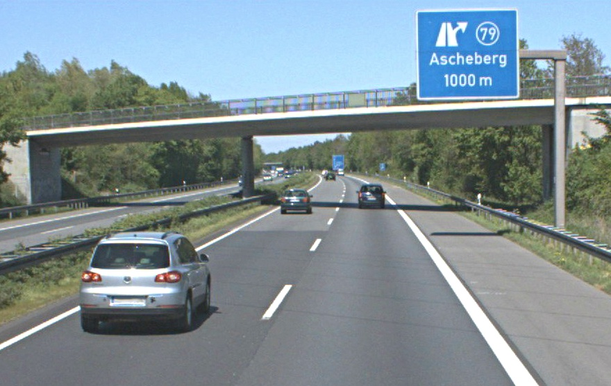 Autobahnausfahrt Ascheberg Foto Straße