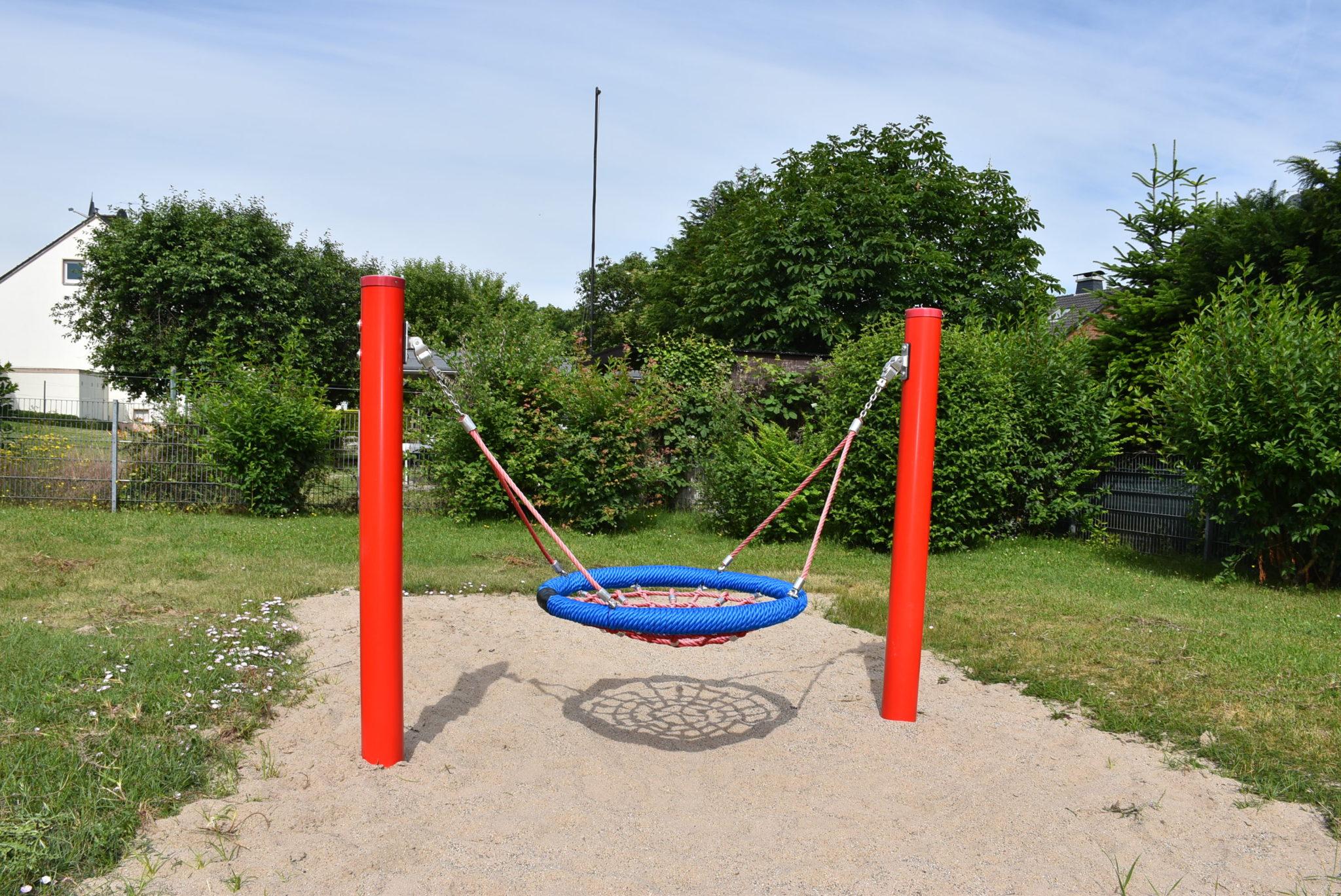 Übersicht Netzschaukel Spielplatz Papenbrede