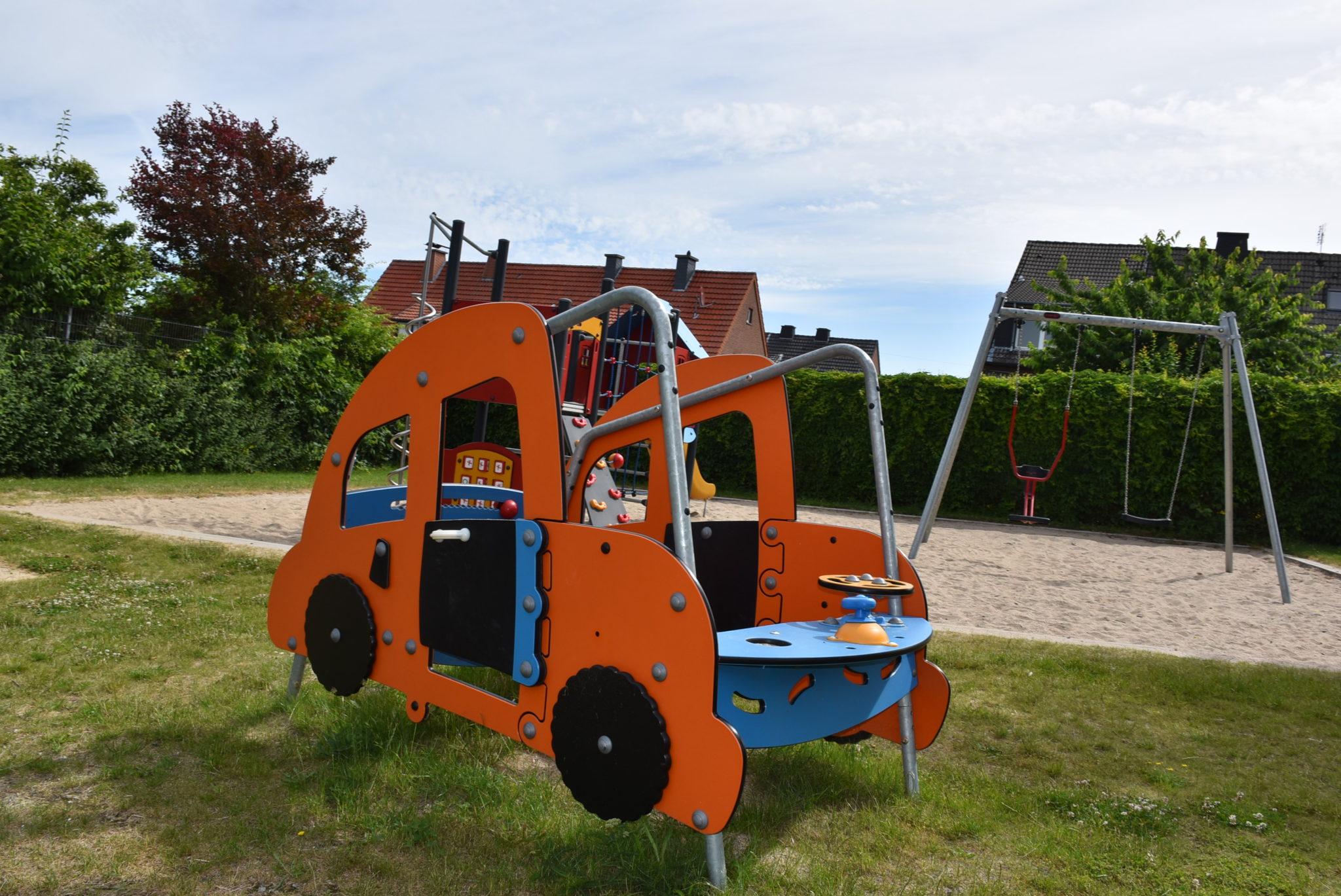 Übersicht Spielauto Spielplatz Prozessionsweg