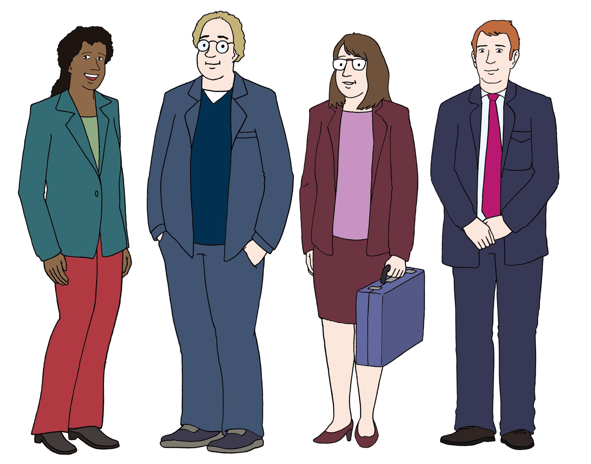 Vier Personen