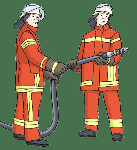 Zwei Feuerwehrmänner