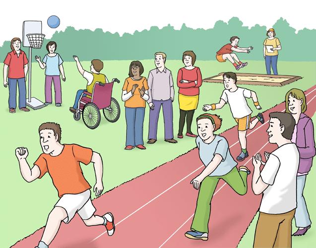Menschen machen Sport