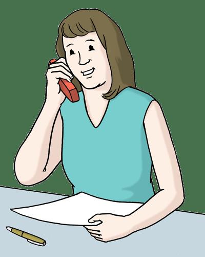 Bild Frau telefoniert
