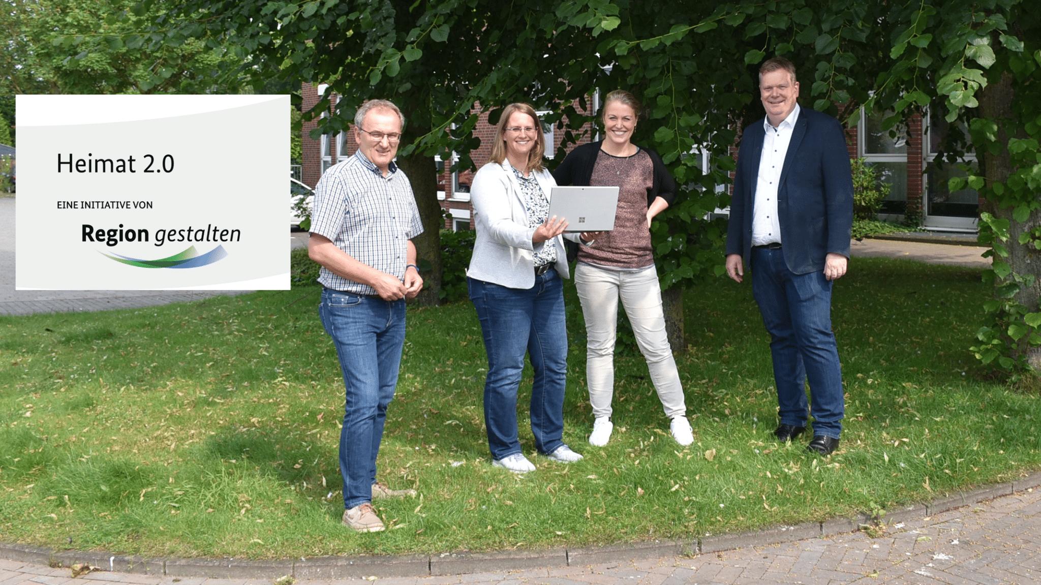 Vier Ansprechpartner für LoReNa in Ascheberg