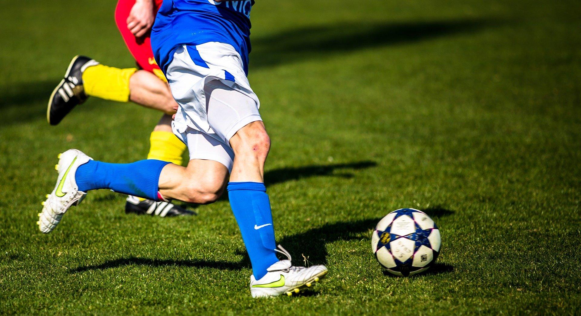 Beine von Fußballspielern