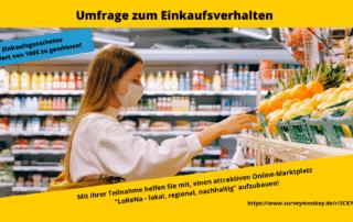 Umfrage zum Einkaufsverhalten